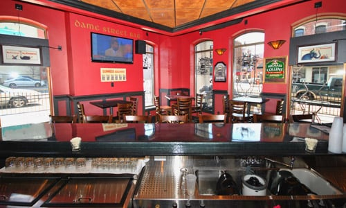 The Dame Street Bar at Dublin Square Irish Pub and Eatery located in La Crosse, Wisconsin