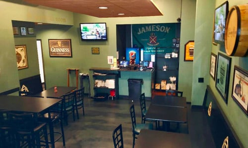 The St. Patrick's Room at Dublin Square Irish Pub and Eatery located in La Crosse, Wisconsin