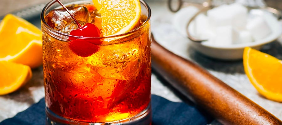 Old Fashioned drink at Dublin Square Irish Pub and Eatery located in La Crosse, Wisconsin