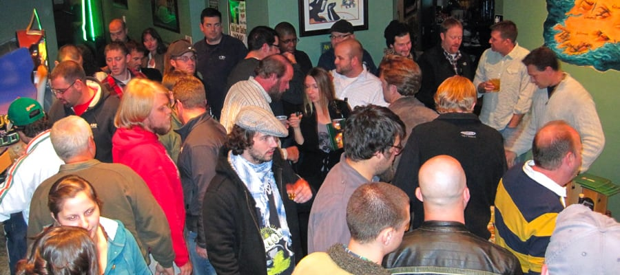 A large private party at Dublin Square Irish Pub and Eatery located in La Crosse, Wisconsin